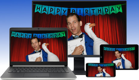 The Virtual Birthday Party Magic Show.
